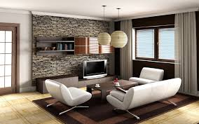 living-room-with-stone