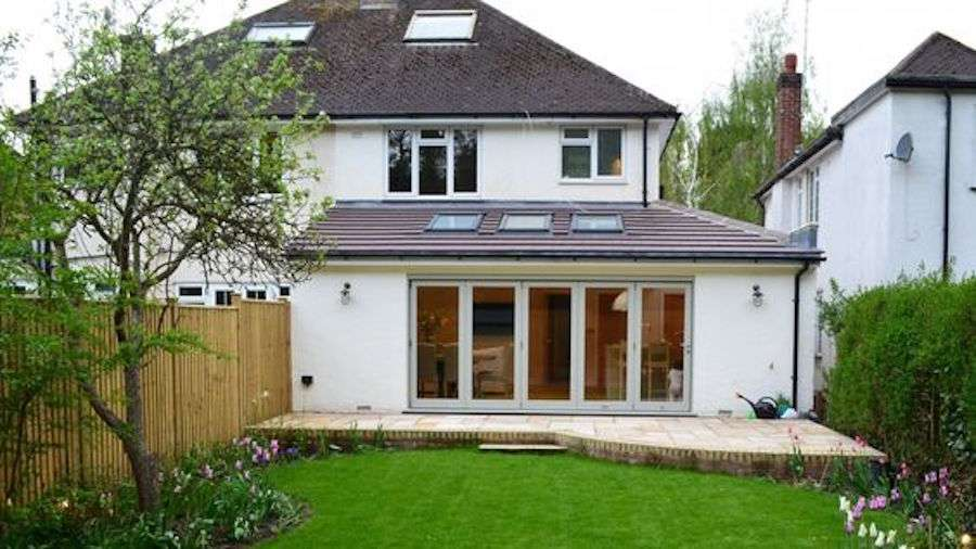 bungalow extension outwards
