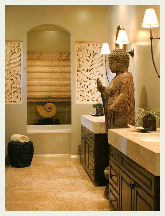 asian bathroom statue