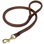 Natural-Rolled-Leather-Dog-Leash