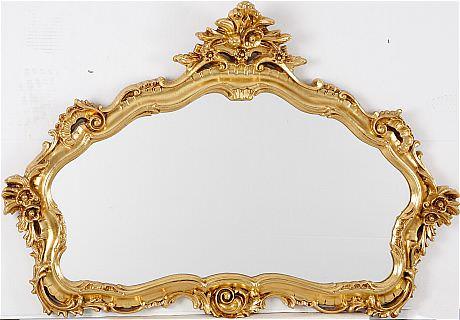 Auktion Spegel Louis XV-stil Stock