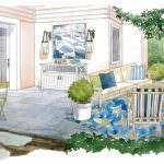 Coastal patio design for The Washing