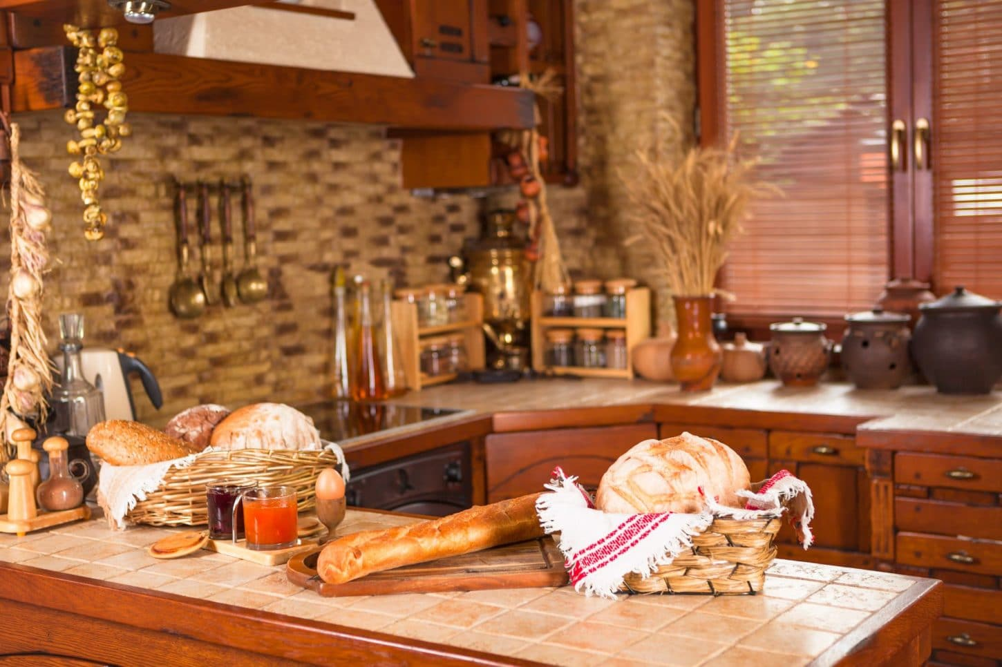 homey, warm, natural country kitchen