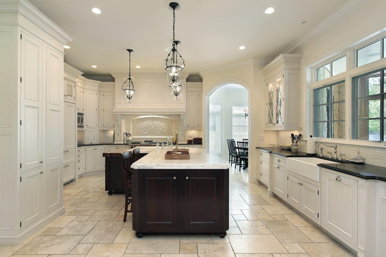 large cream kitchen for minimalists