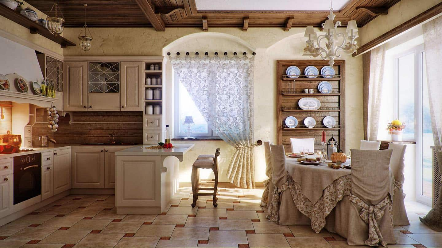 cream kitchen with a touch of the countryside