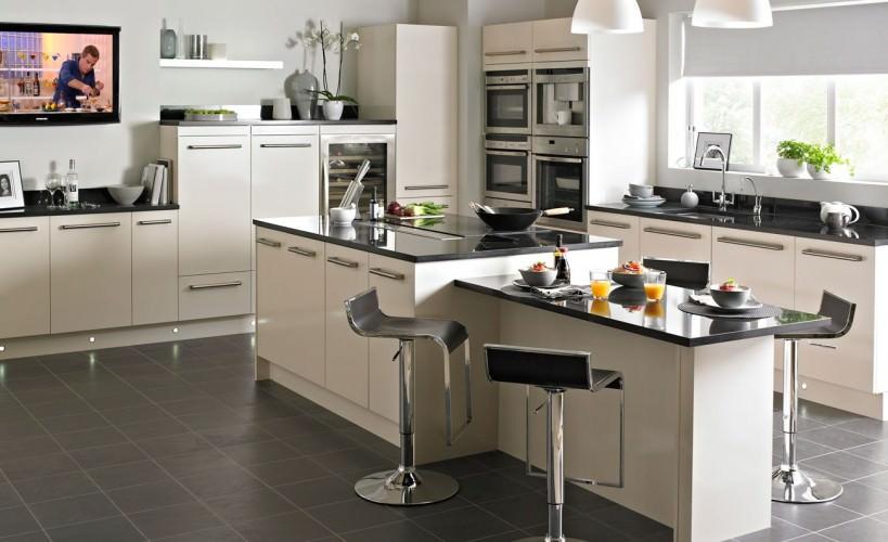 cream kitchen with a modern look