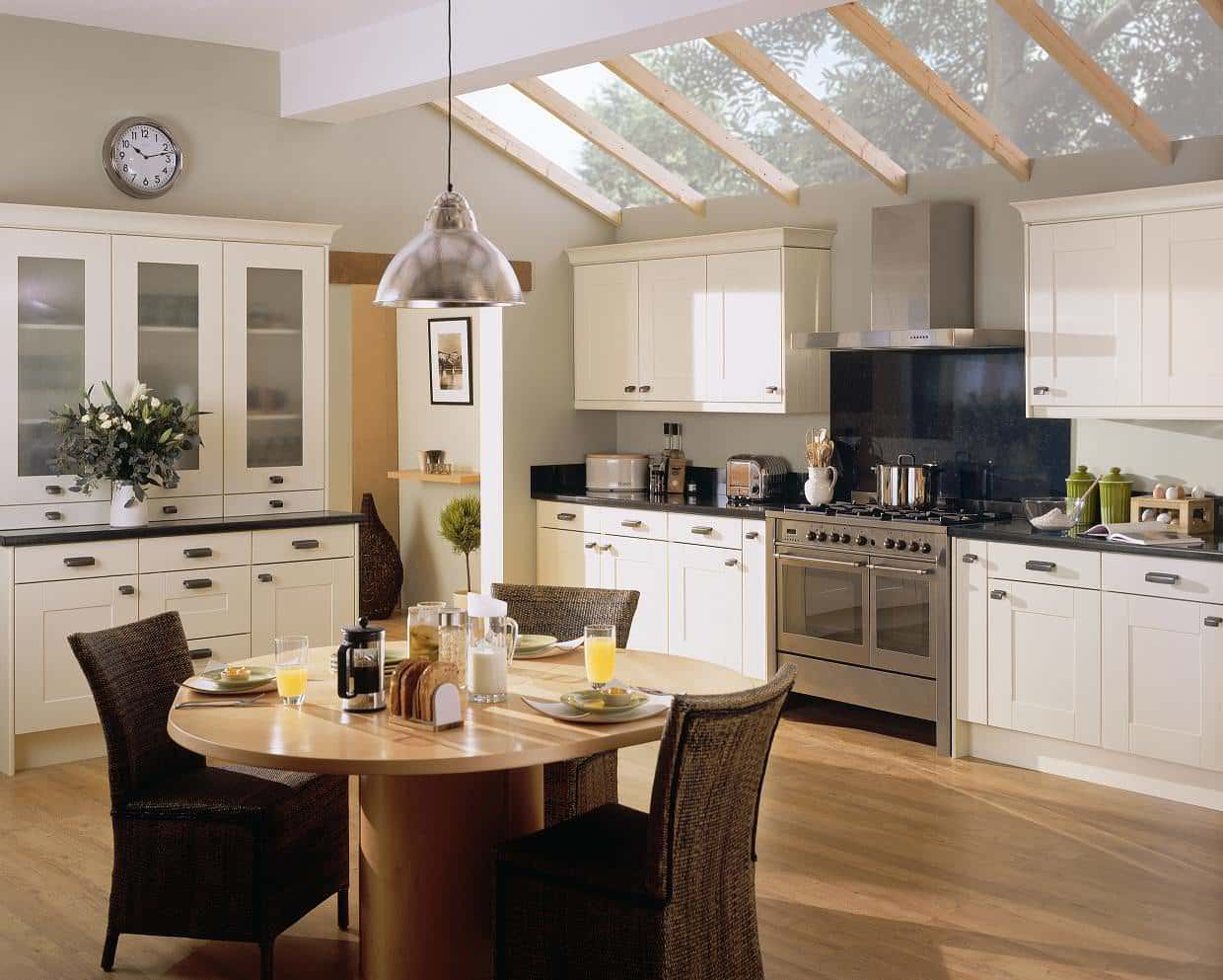 cream kitchen with cozy and inviting ambiance