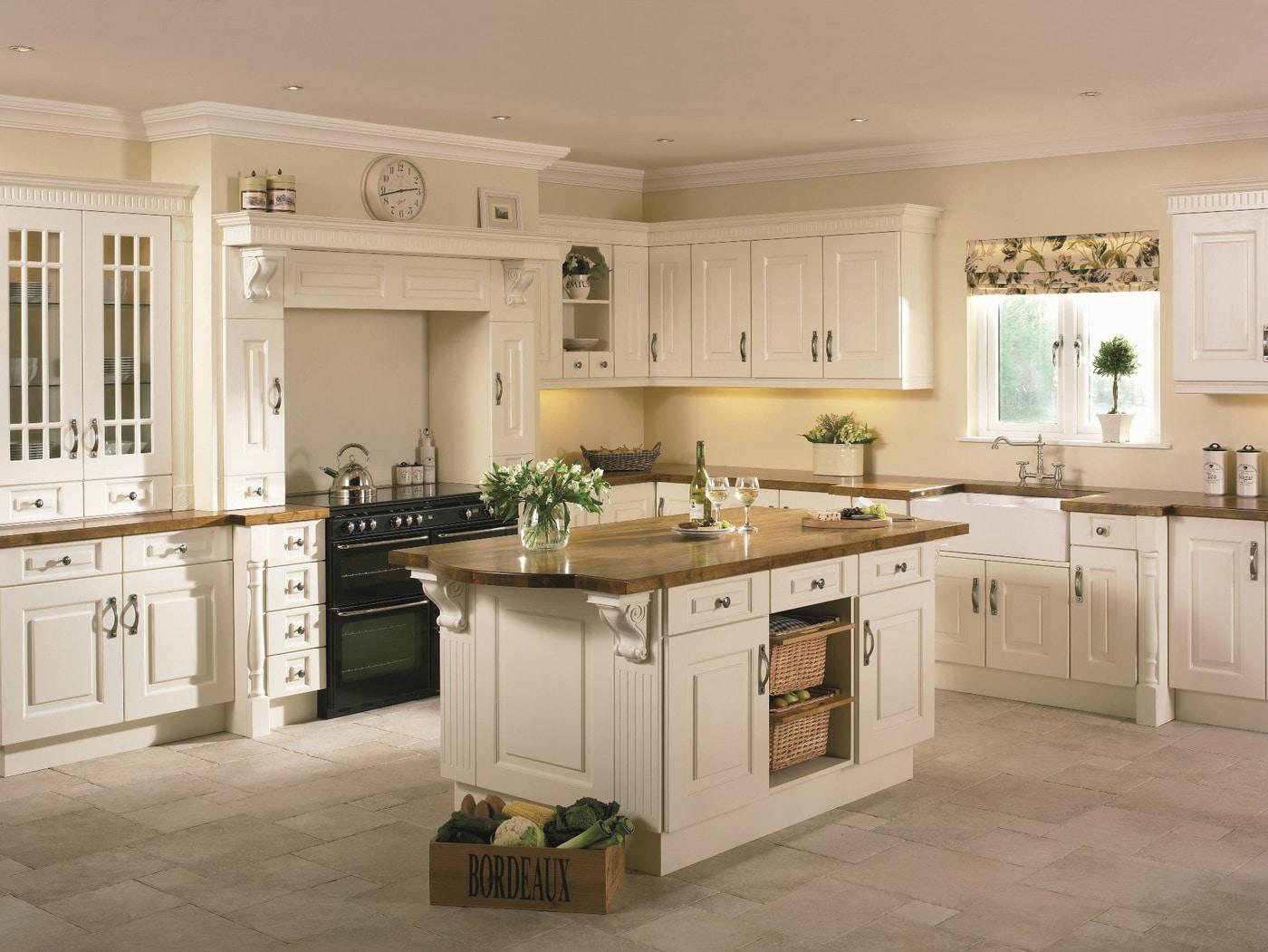 stylish cream kitchen with island