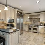 contemporary cream kitchen with up-to-date appliances