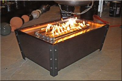 Custom large outdoor fire pits