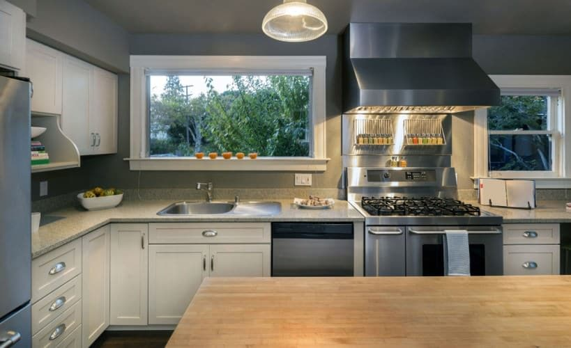 traditional grey kitchen