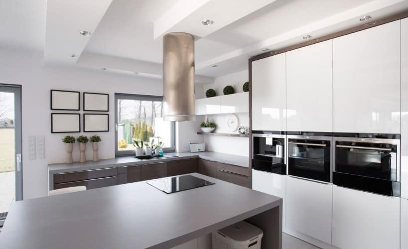 stylish grey kitchen