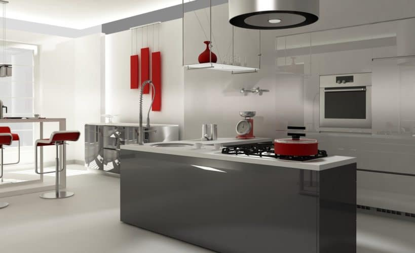 cutting-edge grey kitchen