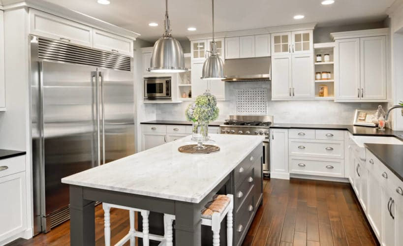 beautiful custom grey kitchen