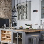 edgy, industrial-style kitchen