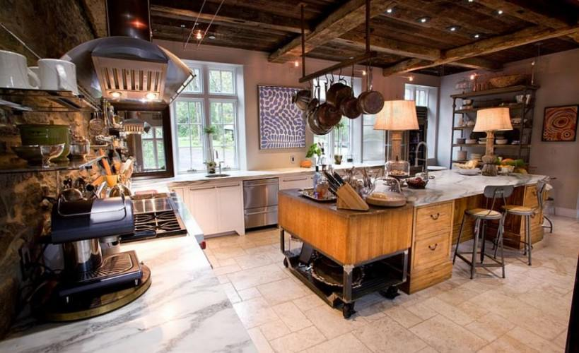 industrial kitchen with a rustic edge