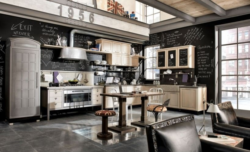 industrial kitchen with a dramatic effect