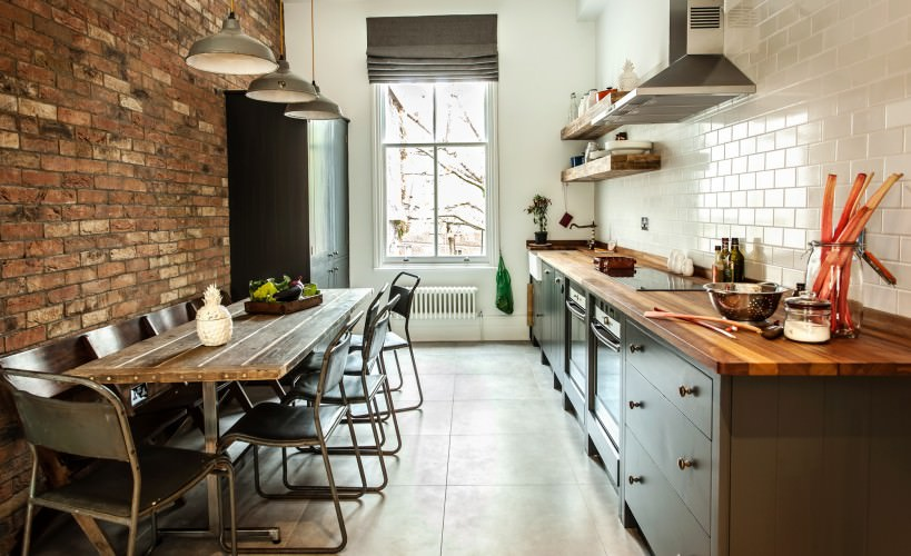 classic industrial kitchen design