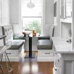 kitchen bench seating idea to dine more comfortably
