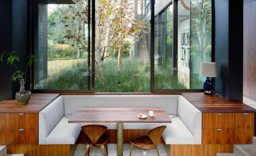 cool kitchen bench seating idea