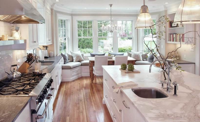 comfortable kitchen bench seating
