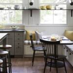 space-saving kitchen bench seating idea