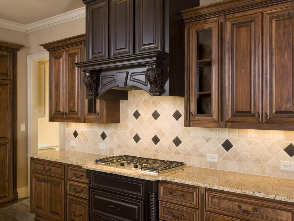 kitchen wall tiles with an element of glitz and glamour
