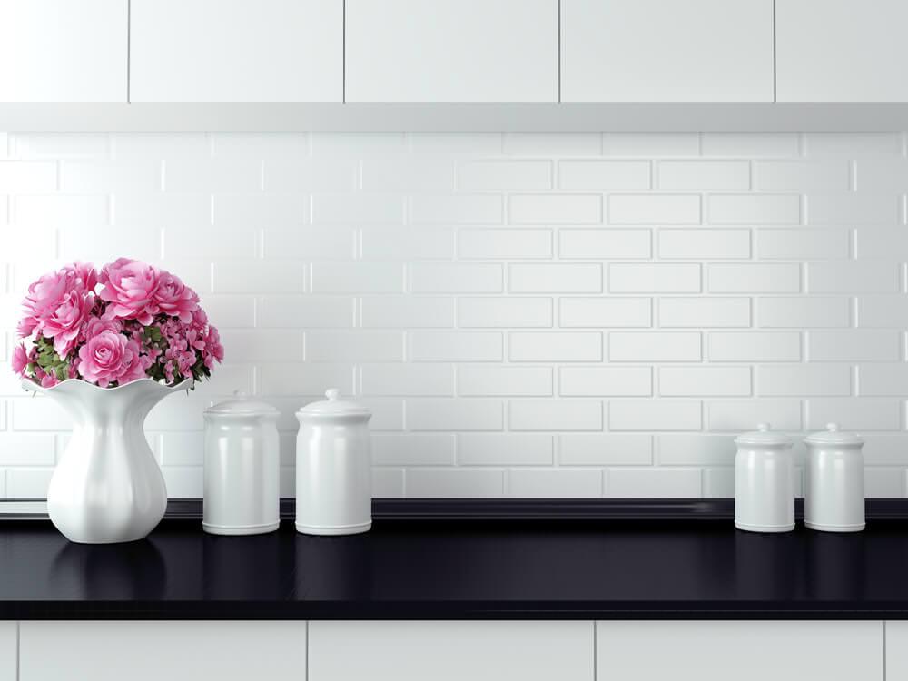 pristine white kitchen wall tiles