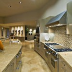 combination of mosaic and ceramic kitchen wall tiles