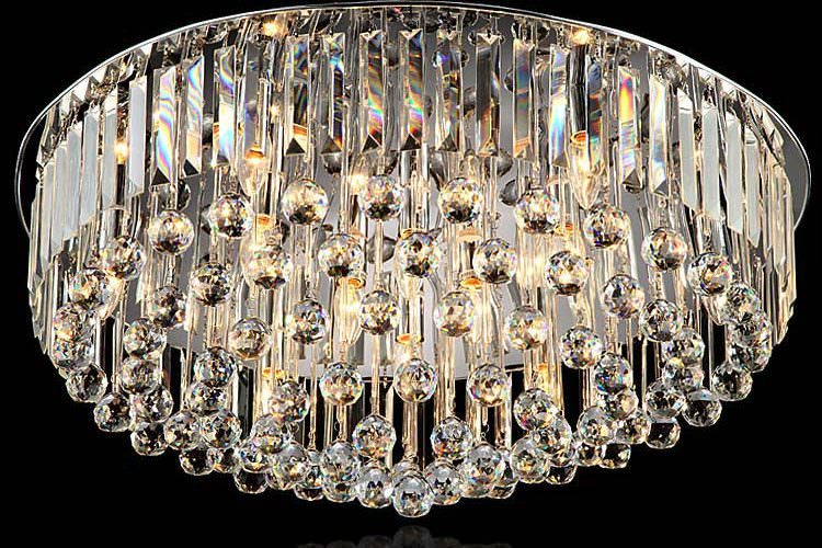 Modern crystal ceiling lamp led crystal ball ceiling light