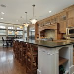 adorable modern open plan kitchen with large island
