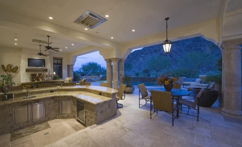 spectacular outdoor open plan kitchen