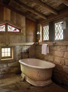 Rustic Bathroom, shower room