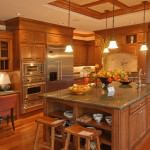 rustic kitchen equipped with modern appliances