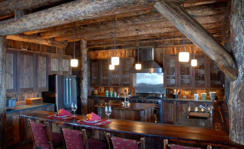 elegant rustic kitchens with aged wood cabinets