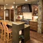 remarkable rustic kitchen design combining traditional with modern furnishings