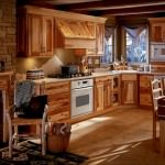 rustic kitchen with warm and cozy atmosphere