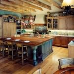quite enchanting rustic kitchen with classic themes