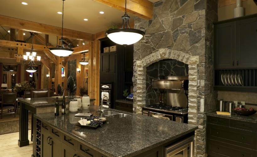 custom contemporary rustic kitchen design