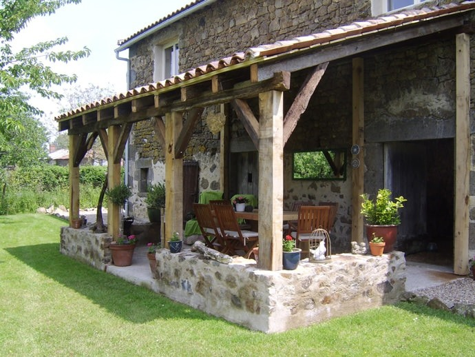 rustic style patio design ideas amp photos