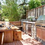 Rustic Wood Patio Table Dwtohop