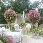 Shabby-chic Garden with Patio Furniture