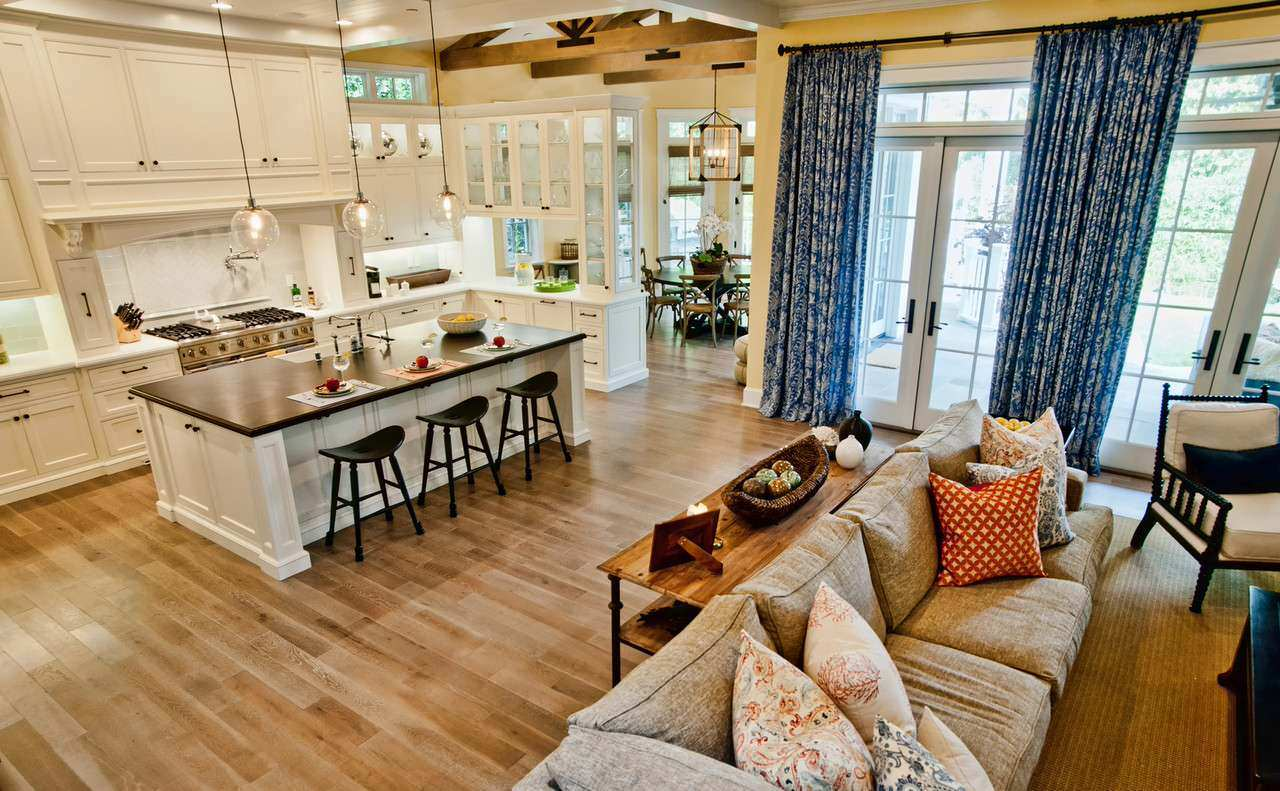 Small Open Plan Kitchen And Living Room