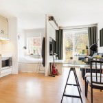 small open plan kitchen and living room designed for a reason