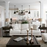 small open plan kitchen and living room where continuity is created and the transition is smooth and seamless