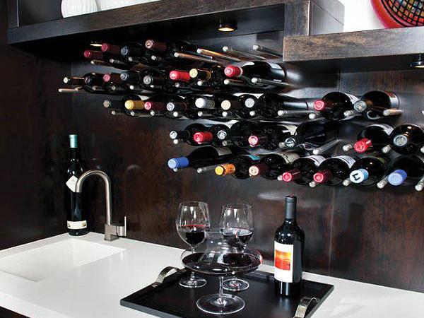 Stalci za vino u interijeru