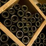 Wine stored in cellar