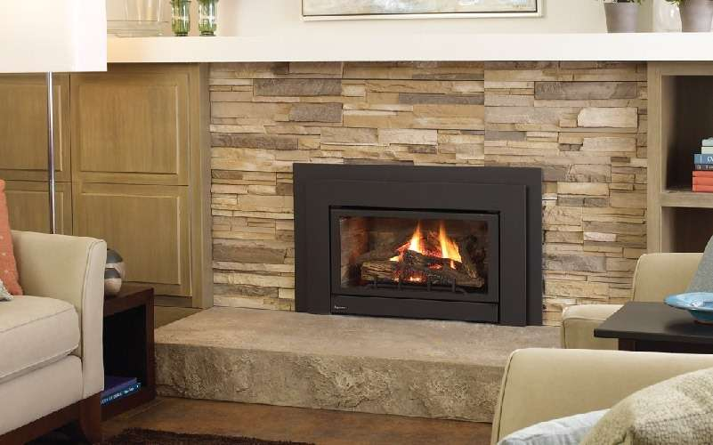 fireplace insert installation