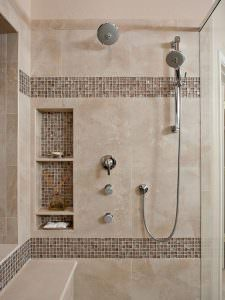tiling a shower